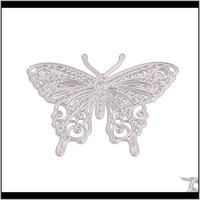 Craft Tools Arts, Gifts Home & Garden Drop Delivery 2021 Butterfly Dragonfly Diy Metal Stencil Scrapbook Card Album Paper Crafts Embossing Cu