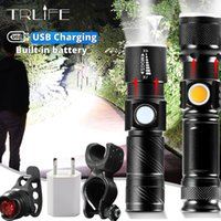 High Power Battery LED Flashlight USB Rechargeable LED Torch Light Lanterna T6 Lantern Tactical Flashlight for Bicycle Light
