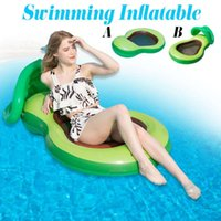 Pool & Accessories Avocado Green Water Hammock Recliner Inflatable Floating Swimming Mattress Sea Ring Party Toy Lounge Bed