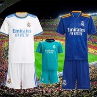 2021 Real Madrid Soccer Jerseys 21 22 Benzema Kroos Alaba Camiseta de Futol 2022 Asensio MAILLOT GEFAHR MODRIC CASEMIRO LUCAS V. Fußball Hemd Uniform Erwachsene Anzug