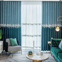 Curtain & Drapes Cloth Material Fabric Hooks Valance Window Blackout Living Room European Tende Per Soggiorno Home Decor EA60CL