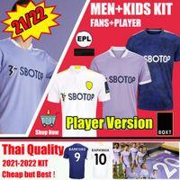 21 22 LEEDS Maillots de Football Fans Version 2021 2022 FIRPO JAMES HARRISON HERNANDEZ COSTA BAMFORD PHILLIPS RAPHINHA Hommes kits enfants maillots de football unis Kit