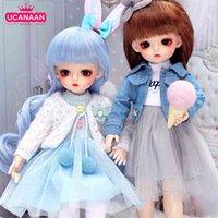 Ucanaan 1/6 BJD кукла 30 см 18 шариковых соединений Куклы с полными нарядами одежды набор парик макияж ручной работы игрушечные подарки для девочек 210923