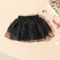 승진 여자 스커트 여름 아이들이 어린이 검은 투투 솜털 솜털 아기 레이스 Tulle Miniskirt 학교 소녀 210622