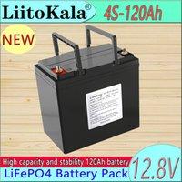 LIITOKALA 12 V 120AH Kapasiteli Lifepo4 12.8 V Pil Güneş Hücresi Paketi RV Şarj Edilebilir Lityum Demir BMS ile Açık Kamp için