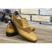 حذاء اللباس 2021 الخريف موسم نمط المألوف بو لون حجب الدانتيل الأعمال بدلة جميلة مخيط الساخن بيع أحذية رجالية ZZ325 210830