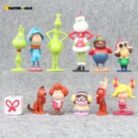 12Pcs Set Grinch Action Figure Toys How The Grinch Stole Christmas Grinch Max Dog Cartoon PVC Model Doll 4-9cm For Boys Gifts FO11
