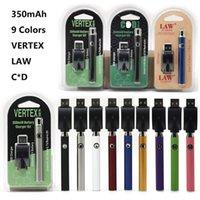 Vape Batteries Ruex Law C * D Упаковки VV Батарея с беспроводным USB Зарядное устройство Fit 510 Резьбовые картриджи Стеклянные баки Испарители Электронная сигарета