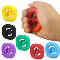 Silicone Fidget Toys Snap Hand Afferra il giocattolo antistress per bambini Adult Stress Relief Spinner Reliever Simple Dimple