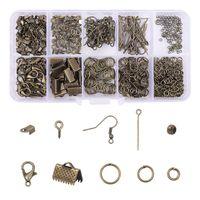 Legering Accessoires Sieraden Bevindingen Set Clip Gesp Open Jump Rings Lobster Clasp Oorbel Haak DIY Sieraden Maken Levert Kit 1955 Q2