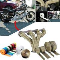 Motocicleta Sistema de Exaustão 1.5mm * 25mm * 5m Carro Motocicletas Incombustível Turbo Manifold Te Heat Weat Tube Tube Wrap Coberture Acessórios