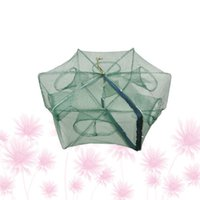 Fishing Accessories Foldable Bait Cast Mesh Trap Net Portable Landing Shrimp Cage For Fish Lobster Prawn Minnow Crayfish Crab (Green, 6