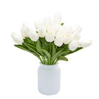 Artificial Tulips Flowers Real Touch Flower Bouquet Fake Flower Gift For Birthday Wedding Party Home Garden Decoration