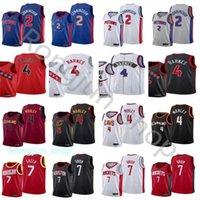 2021 проект выбора баскетбола 2 CADE CUNNINGHAM Трикотажные изделия напечатаны 7 Джален Грин 4 Evan Mobley Scottie Barnes Blue белый серый красный черный оптом