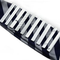 Straps Groove Diamond Short Tie Clips Business Suits Shirt Necktie Ties Bars Fashion Jewelry Men Christmas Gift Will and sandy 070004