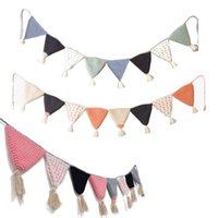 Decorative Objects & Figurines Nordic Hand-woven Garland Party Banner Tent Bed Mat Baby Shower Bunting Ornament Kids Room Hanging Wall Decor