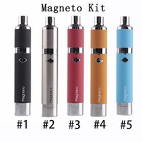 100% Authentic Yocan Magneto Kits 1100mAh100% Authentic Yocan Magneto Kits 1100mAh Battery Magnetic Coil Cap Built-in Silicone Jar Ceramic Coil Wax Vapor Pen