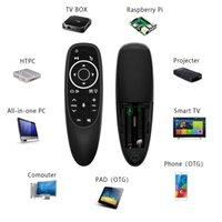 G10S Pro التحكم الصوتي الفأرة مع الدوران الاستشعار مصغرة اللاسلكية الذكية الخلفية الخلفية لالروبوت التلفزيون مربع pc h96 max hk1 max s905x3