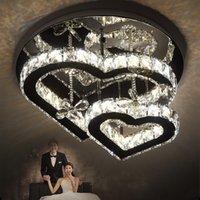 Luces de techo Amor romántico Corazón En forma de cristal Iluminación interior para sala de estar Atmosférica Moderno Moderno Minimalista Luz Light Bright Lámparas Fashional