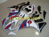 حقن ABS FREE مخصص هدية هدايا كيت هيكل السيارة هدية مجموعات كاملة ل Yamaha YZF1000R1 09 10 11 YZF R1 YZFR1 CONLING 2009 2010 2011 أحمر أزرق أبيض