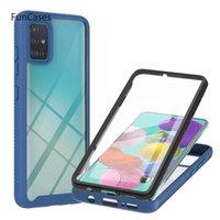 Güzel Çerçeve Ve Telefon Geri Kabuk Kapak Durumda Samsung A51 4G Ajax Aksesuarları Işık Kılıfları Serin SFOR Galaxy Zırh A515 Hücre Torbaları