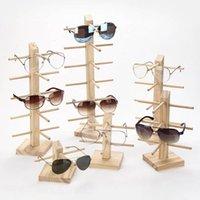 Moda Gafas de sol Marcos 1 unids Madera Pantalla de gafas de sol Pantalla Estante de madera Durable Gafas Mostrar soporte Titular Oculos Feminino