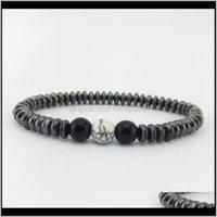 Charm Bracelets Jewelry7 Chakra Healing Beaded Natural Lava Stone Tiger Eye Beads Bracelet 8Mm For Women Men Fashion Yoga Jewelry Drop Drop D