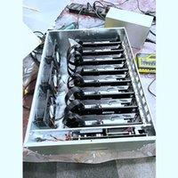 ETH mineradores RTX 2060s 6GB Mining Rigs Máquina de caso de computador em um gpu miner gráficos placas plenais plenagem com placa-mãe / 2500W PSU mining-eth