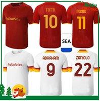 21 22 Рома Футбол Джеки Перотти Пастор Заниоло де Росси Тотти Джерси 2021 2022 Футбольная рубашка Детский комплект + Мужчины