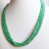Chains 42+5cm Elegant Green Aventurine Choker Necklace Faceted Round Natural Gem Stone Wedding Gift For Women Charm Fashion Jewelry