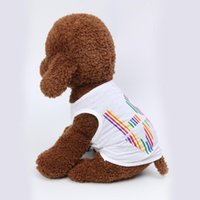Dog Apparel Cat T-shirt Soft Puppy Dogs Clothes Pet Spring And Summer Breathable Fashion Love Casual Vest Thin Clothing Gilet Chien