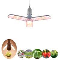 최신 접이식 LED 성장 빛 2/3/4 머리 성장 조명 바지 야채 온실 수경 텐트 성장