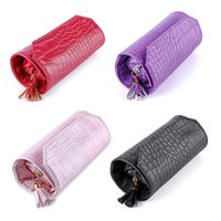 Borsa da viaggio portatile Box Box Box Roll PU Custodie per gioielli in pelle per anelli Orecchini Bustelle, Borse