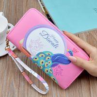 Wallets 2021 Printed Wallet Women's Long Zippercoin Purse Fashion Large Capacity Mobile Phone Bag Clutch