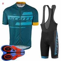 Hommes Scott Team Jersey Cyclisme Costumes Summer manches courtes Chemise Short Set Set Vélo Vêtements Ropa Ciclismo Tenues de sport S21031808
