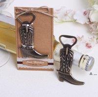 Abridor de garrafa newCreative hitched boot bowboy western aniversário casamento casamento favores e presentes festa ferramenta bonito EWA6470