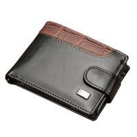 Wallets Creative Men's Wallet High-quality PU Leather Purses Portable Money Clip With ID Windows Interior Coin Bag WB661