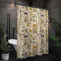 Shower Curtains Vintage Curtain Fabric Designer Fashion Thick CurtainWaterproof Opaque Douchegordijn Bathroom Accessories EH50SH