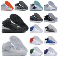 Force With box Designers Airforces Outdoor Men High Air Skateboard Shoes Forces One Unisex 1 Knit Euro Women All White Black Red Casual