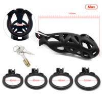 Design Male Cobra Chastity Device Kit Sex Toys For Men Cock Cage Penis Ring Plastic Sleeve Lockable BDSM Adult Games Shop Cockrings