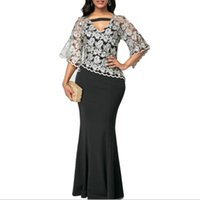 Casual Dresses Summer Dress Women 2021 Sexy V Neck Banquet Embroidery Floral Lace Evening Party Vestido Plus Size Slim Mermaid Maxi 5XL