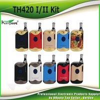 Original K1 Mod II TH-420 Tank Kits TH420 0.5ml Kit Box Starter Cartridge Kangvape Ceramic Thick Oil 2 650mAh Battery 100% Authentic Euann