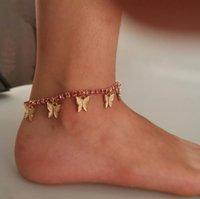 아이스 아웃 체인 Anklets 나비 Infinity 발목 발목 팔찌 크리스탈 발 해변 Anklets 여성 패션 맨발 체인 쥬얼리