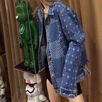 2021 Giacche da donna Patchwork Jacquard Denim Coat