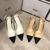 Luxurys Designer Schuhe Frauen Pearls High Heel Sandalen Paris Echtes Leder Kleid Schuh Schaffell 6cm Stiletto Heels Folien Sexy Pointy Sandal