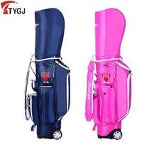 TTYGJ Golf mit Trolley-Rad-Herren- und Damen-tragbarer Ballbeutel