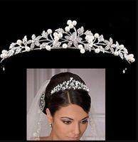 Pearl Crown Hairs Hoops Wedding Accessories Bride Sets Drill Head Hoop Birthday Party Princess Headwear New Arrival dff2025