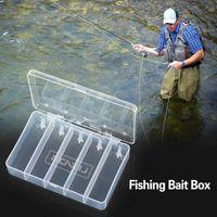 Caja de señuelos de pesca 5 compartimento Cait Hooks caja de estuche herramienta Tackle Organizador Organizador Accesorios