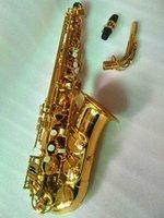 Yanagisawa Alto Saxophone A-992 الذهب ورنيش سيكس المهنية بقع البقع منصات القصبين ينحني الرقبة وصندوق الصلب