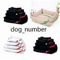 동물 패턴 애완 동물 kennels chihuahua 불독 Bichon Schnauzer 개 침대 간단한 패션 편안한 통기성 개 고양이 침대